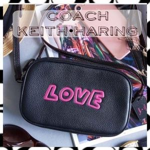 Coach • Keith Haring LOVE Crossbody Leather Pouch